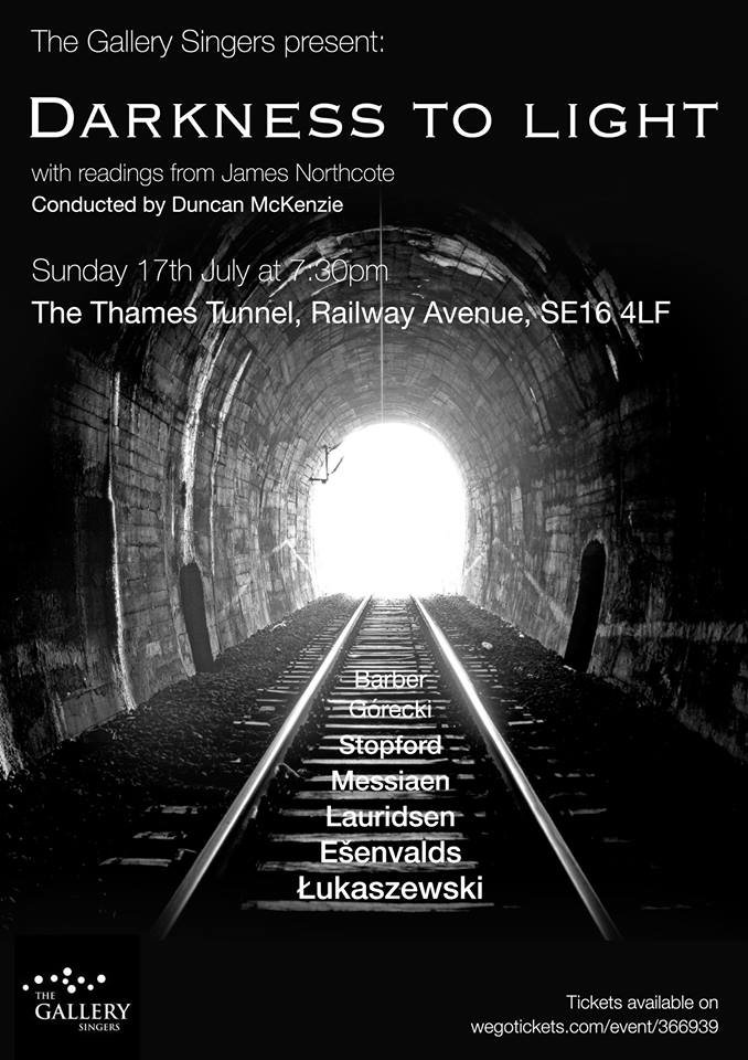 Poster with tunnel