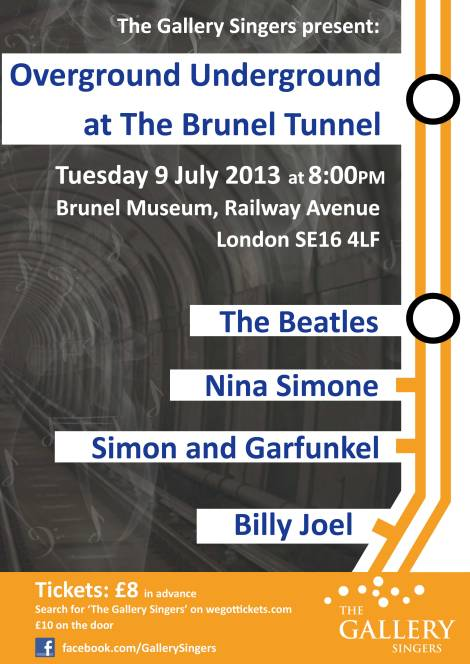 Our sell out gig at The Brunel Tunnel!