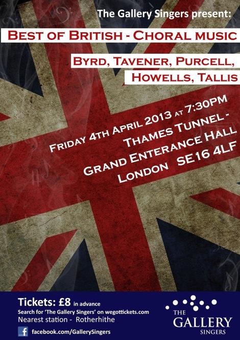 Best of British Concert Poster